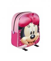 Roze 3d minnie mouse rugtasje