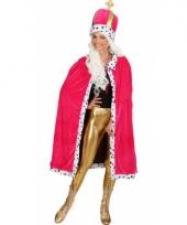 Roze cape met muts voor dames