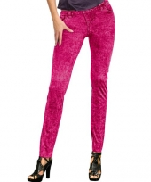 Roze dames legging spijkerlook