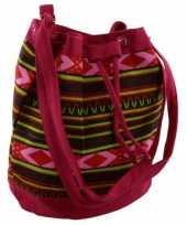 Roze dames tassen ibiza stijl 30 cm