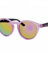 Roze dames zonnebril ronde glazen model 7002