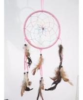 Roze dromenvanger met veren