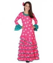 Roze flamenco jurken voor meiden