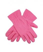 Roze fleece handschoenen voor mannen en dames