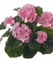 Roze geranium kunstbloem 35 cm