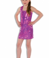 Roze glitter jurkje voor meisjes