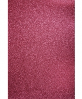 Roze hobbykarton met glitters