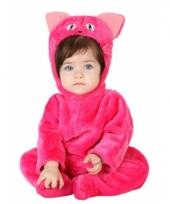Roze kat onesie voor babys