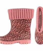 Roze kinder regenlaarzen met voering 10116558