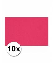 Roze knutsel karton a4 10 stuks