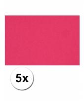 Roze knutsel karton a4 5 stuks