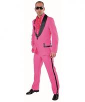 Roze maatpak voor heren