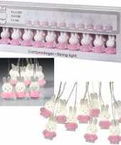Roze nijntje lichtslingers