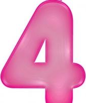 Roze opblaasbare getal 4