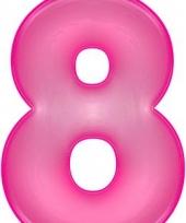 Roze opblaasbare getal 8