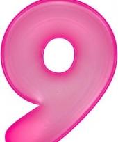 Roze opblaasbare getal 9