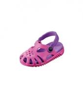Roze paarse kids waterschoen sandalen met bloemetje