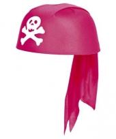Roze piraten hoed voor meiden