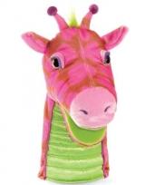 Roze pluche handpop fantasie
