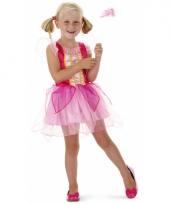 Roze prinsessenjurkje met toverstaf voor meisjes