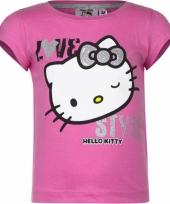 Roze shirt met hello kitty