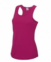 Roze strand singlet sneldrogend voor dames