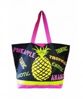 Roze strand tas ananas 58 cm