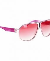 Roze trendy dames zonnebrillen