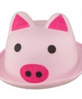 Roze varkens hoedje voor volwassenen