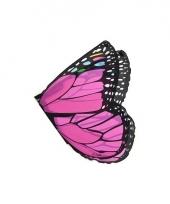 Roze verkleedvleugels vlindertje voor kinderen