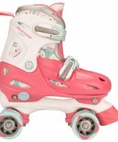 Roze verstelbare skates voor kinderen maat 34 37