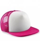 Roze witte vintage baseball cap voor kinderen