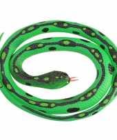 Rubberen nep gras slang decoratie117 cm