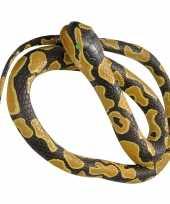 Rubberen nep koningspython decoratie mega slang 183 cm