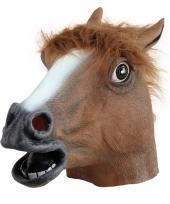 Rubberen paarden maskers bruin