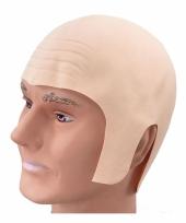 Rubberen pruik van kaal hoofd