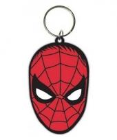 Rubberen sleutelhanger met ijzeren ring spiderman