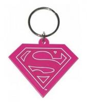 Rubberen sleutelhanger met ijzeren ring supergirl