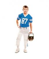 Rugby speler pak wit blauw voor kids
