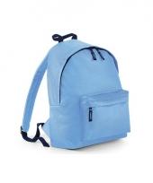 Rugtas blauw met18 liter inhoud