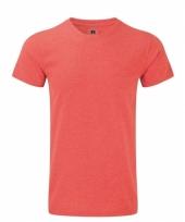Rusell basic t-shirt rood voor mannen