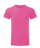 Rusell basic t-shirt roze voor mannen