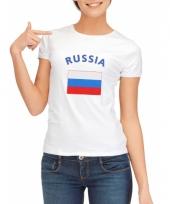 Rusische vlaggen t-shirt voor dames
