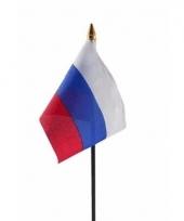 Rusland luxe zwaaivlaggetje polyester