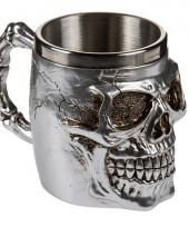 Rvs mok met skull 10075216