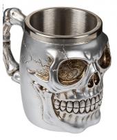 Rvs mok met skull