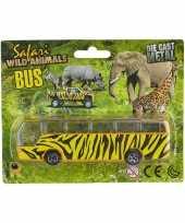Safari bus giraf print 14 cm