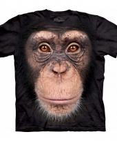 Safari dieren shirts chimpansee aap voor volwassenen