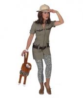 Safari verkleedkostuum voor dames