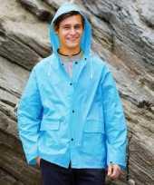 Saffierblauwe pvc regenjassen voor volwassenen